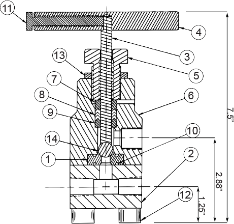 NV-20B Series Block Valve Diagram